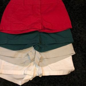 j crew bundle of 4 shorts ( all size 4)